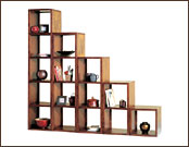Cube Shaped Wooden Display Unit