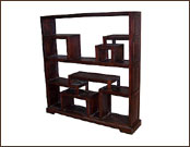 Multiple Shelves Wooden Display Unit