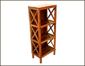 Wooden Cross Jali Display Shelving Unit