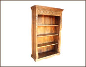Antique Finish Wooden 4 Shelves Display Cabinet