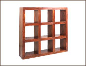 9 Hole Cube Wooden Display Shelving Unit